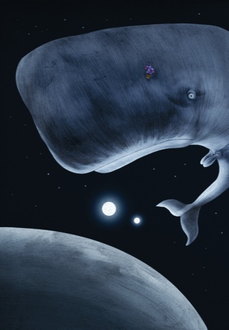 A Bowl of Petunias and a Surprised Looking Whale by Jonathan Burton