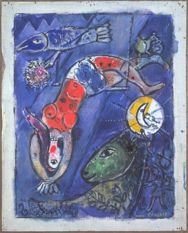 The Blue Circus 1950 by Marc Chagall 1887-1985