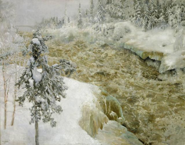 Akseli-Gallen-kallela-Imatra-in-Winter